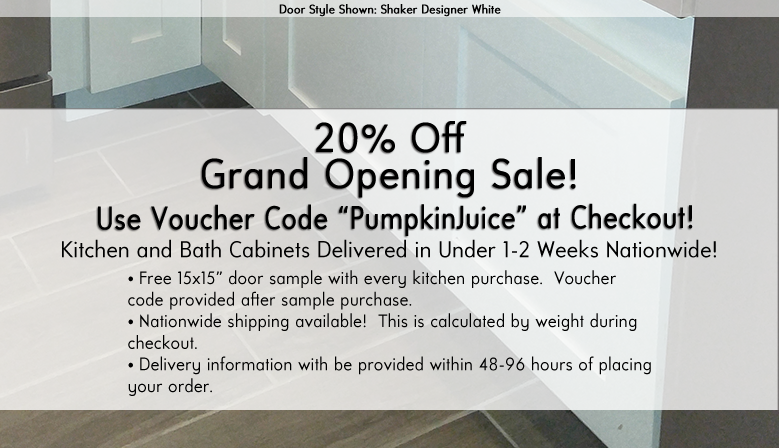 20% Off Grand Opening Sale!
